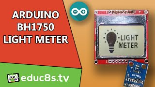 Arduino Project: BH1750 Light meter illuminance sensor DIY using Nokia 5110 tutorial project