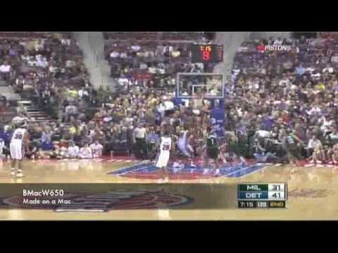 Pistons vs Bucks 11/28/2008 Highlights