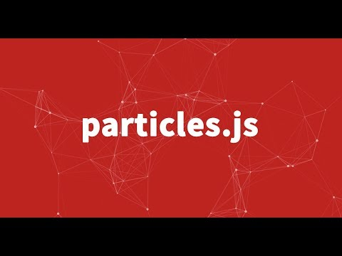How to use particles.js in one minute with easy code