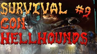 bo2 zombies survival en town con hellhounds parte 9