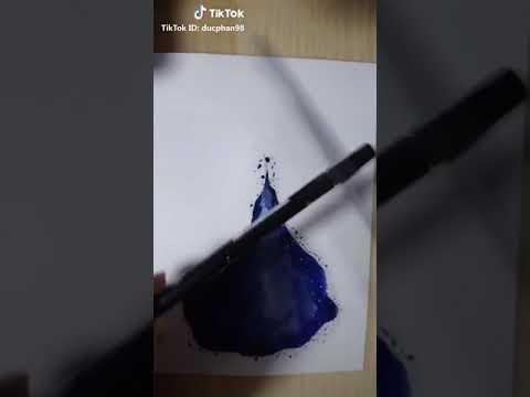 Vẽ tranh bằng màu nước tuyệt đẹp