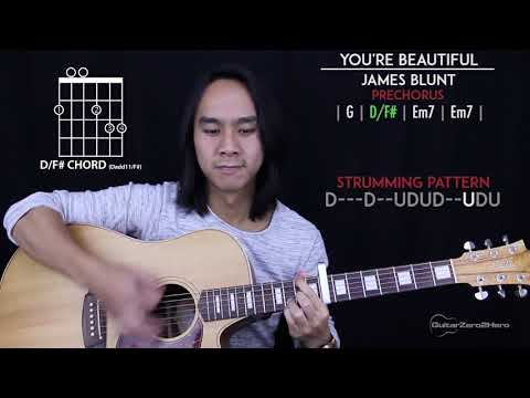 You're Beautiful Guitar Cover Acoustic - James Blunt 🎸 |Tabs + Chords|