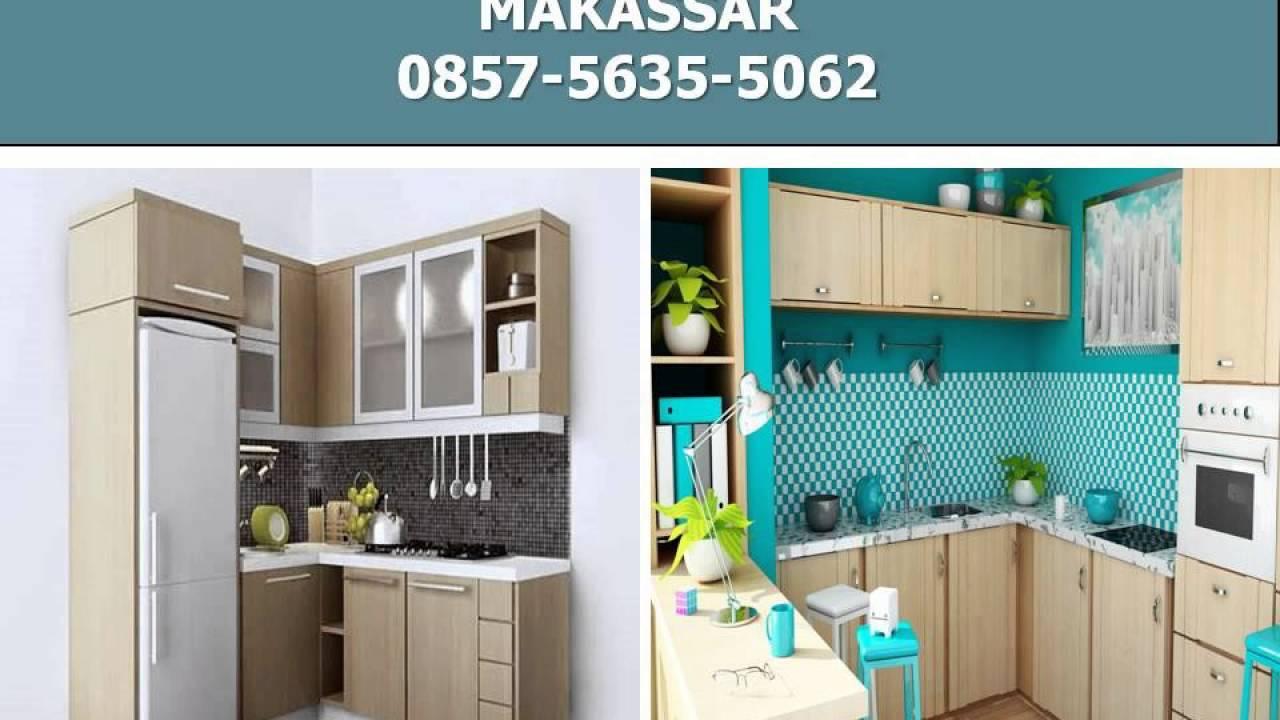 0857-5635-5062, Kitchen Set Minimalis Makassar - YouTube