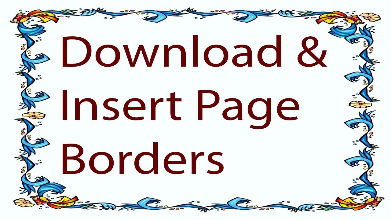 microsoft word page borders download free
