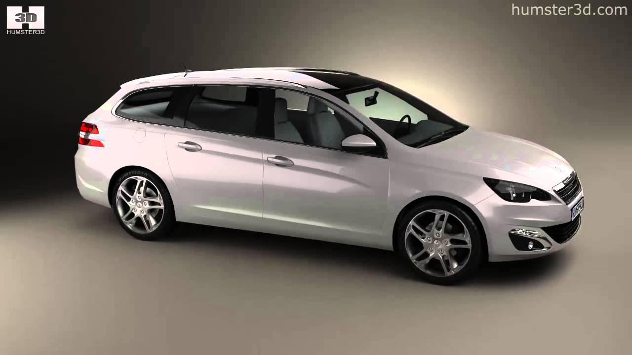 Peugeot 308 Sw 2014 By 3d Model Store Humster3d Com Youtube