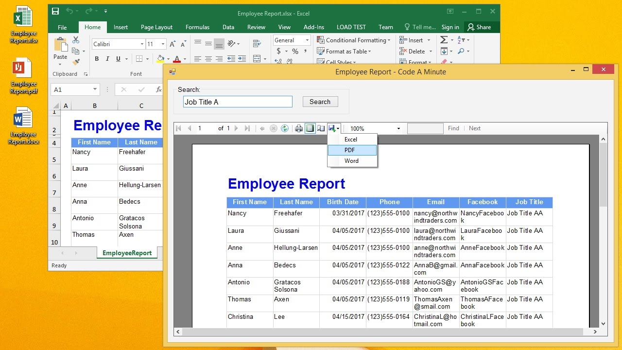 VB Net :How to Add a ReportViewer Report to VB Net Project (Using RDLC  File) Part 2/2