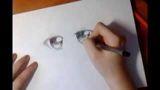 How to draw anime eyes/как рисовать аниме глаза(Музыка:Nickelback -- Lullaby Простите, что долго не добавляла видео. Теперь они будут появляться чаще., 2013-04-14T10:58:47.000Z)