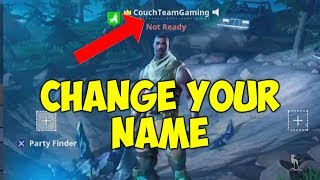 How To Change Your Name In Fortnite Battle Royale