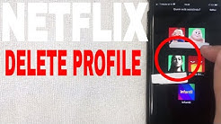 ✅  How To Delete A Profile In Netflix Account 🔴