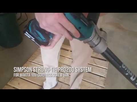 Simpson Quik Drive PRO200 with 18v Makita Brushless Screwgun XSF03