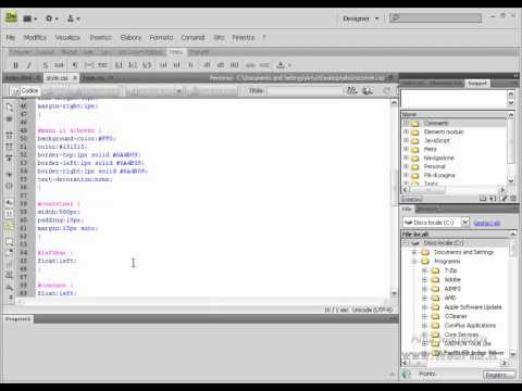 Design Con I CSS (conteiner E Footer)
