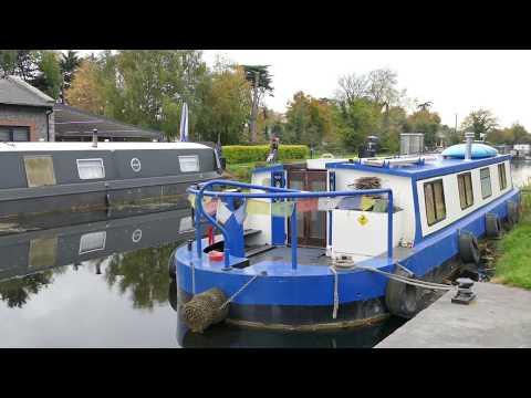 Ireland, Co Dublin, Castleknock, Royal Canal, 12th Lock, 4K UHD