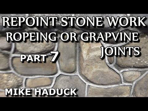 Ropeing or Grapevine, cement joints, (Mike Haduck)