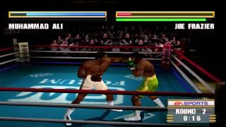 Knockout Kings 2000 Gameplay Muhammad Ali Vs. Joe Frazier (PlayStation)