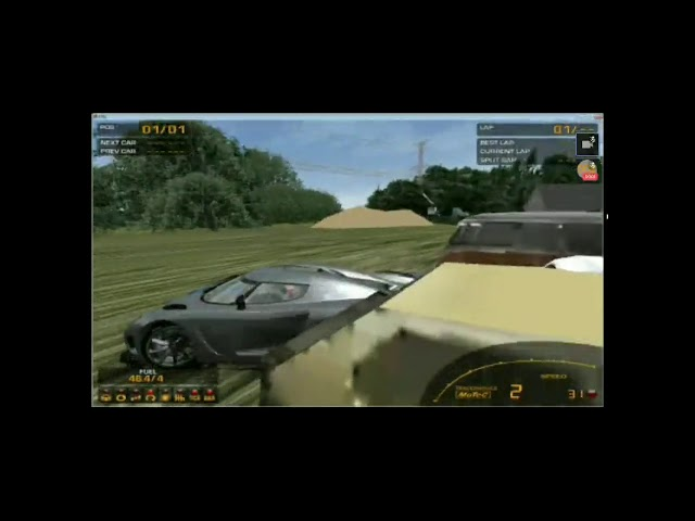 gran turismo ® 2 gameplay but everytime a person is hit you hear OOF