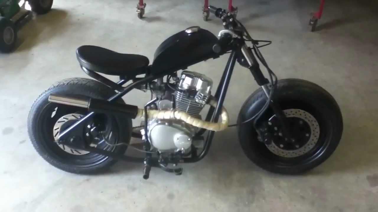 Home Built Mini Bobber Bike - YouTube