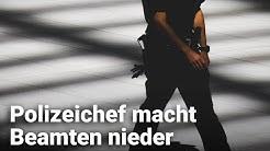 Polizeichef macht Beamten nieder
