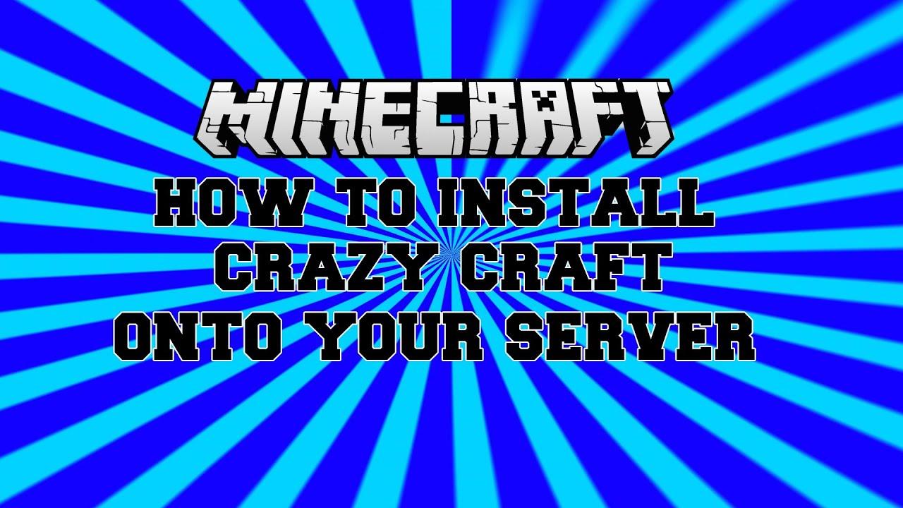 how to make a crazy craft server 1.6 4