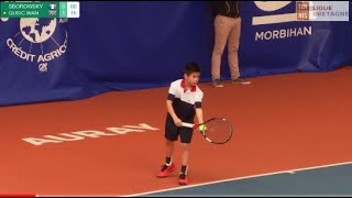 SBOROWSKY (FRA) vs GUSIC (GBR) - Open Super 12 Auray Tennis - Boys Final