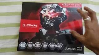 amd ati sapphire radeon r7 240 4gb 128 bit ddr3 graphic card review unboxing