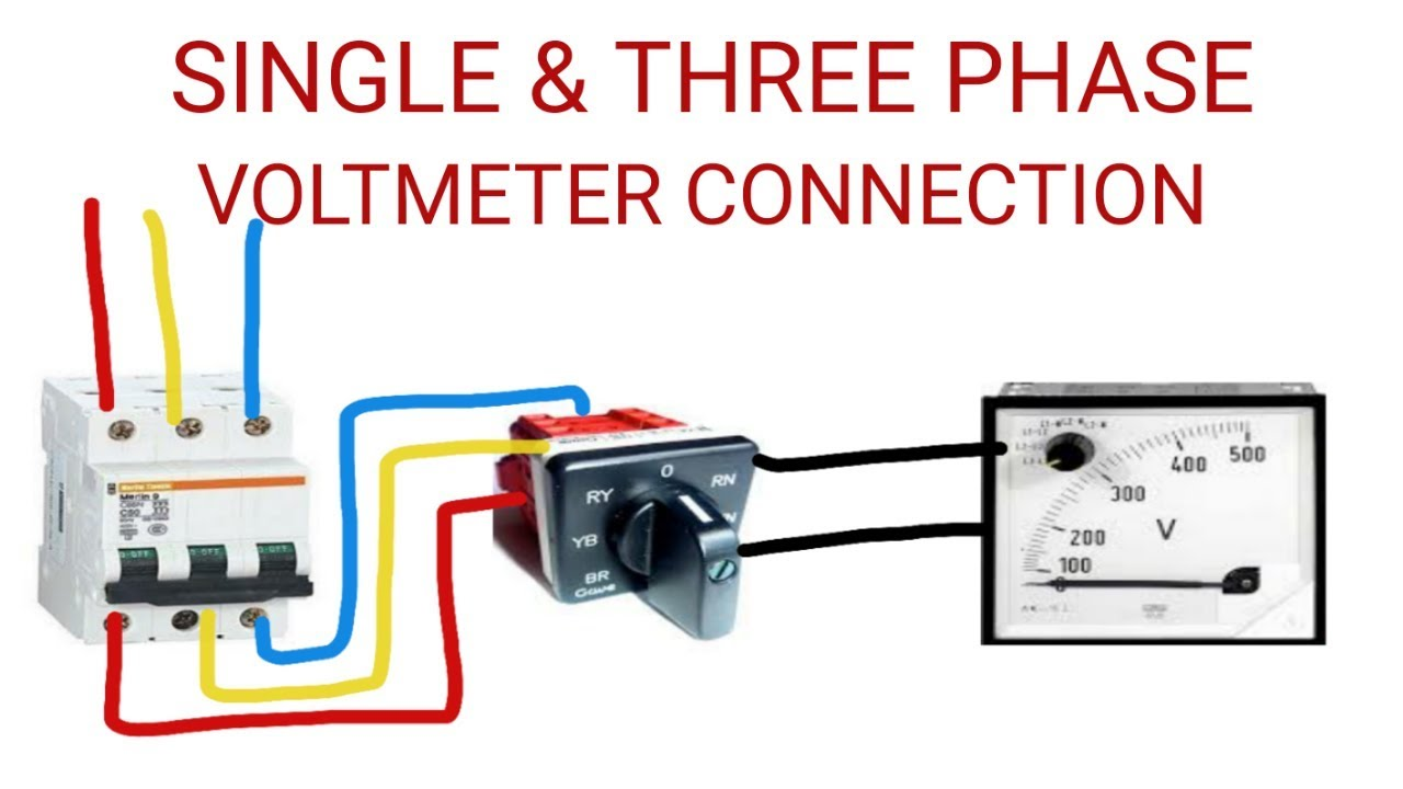 small resolution of voltmeter connection with selector switch practically