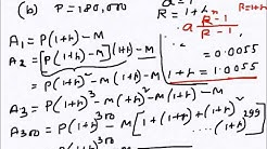 Algebra: Compound Interest (Loan Repayment example)