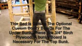 The Log Furniture Store's Full/queen Bunk Bed Assembly