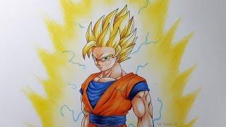 Drawing Goku Super Saiyan 2