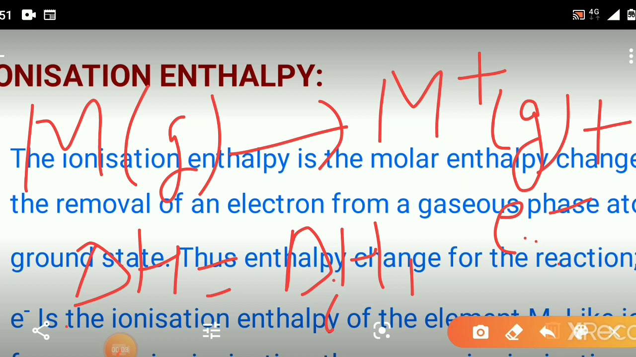 Chemistry#class-11# Ionisation enthalpy, electron gain ...