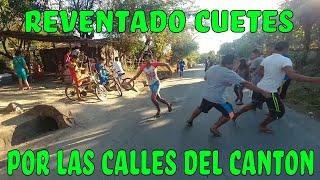 Divirtiendonos reventando cuetes por las calles del canton. Ayuda social para Doña Luisa. Parte 1