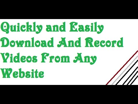 Quickly And Easily Download And Record Videos From Any Website
