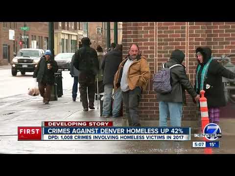 Crimes against Denver homeless up 42%