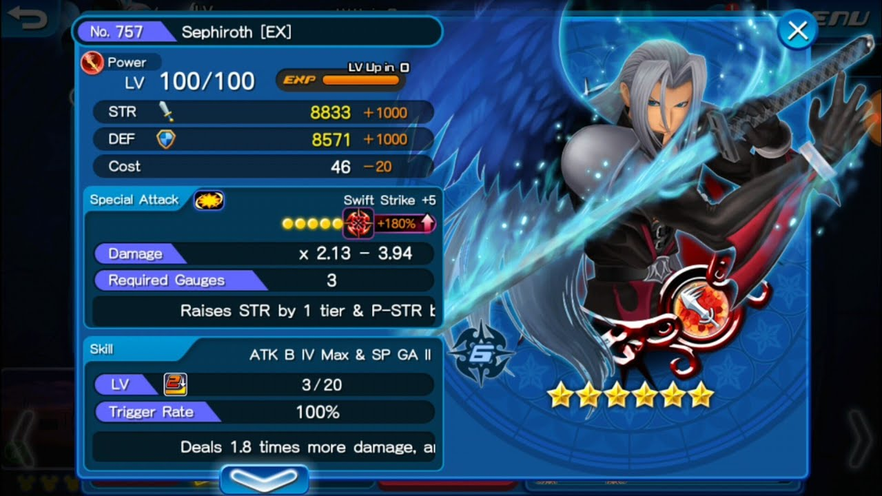Khux F2p Testing Out Boosted Sephiroth Ex Youtube