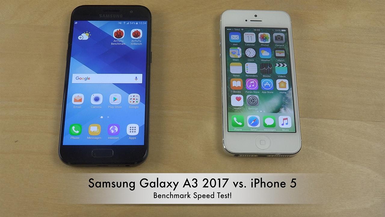 samsung a3 2019 vs iphone se