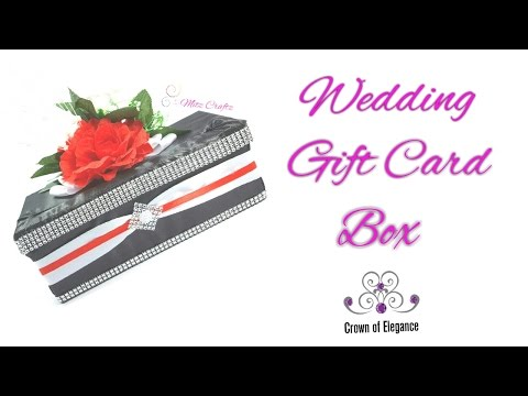 Gift Card Box for Showers or Weddings| DIY Weddings| Card Box
