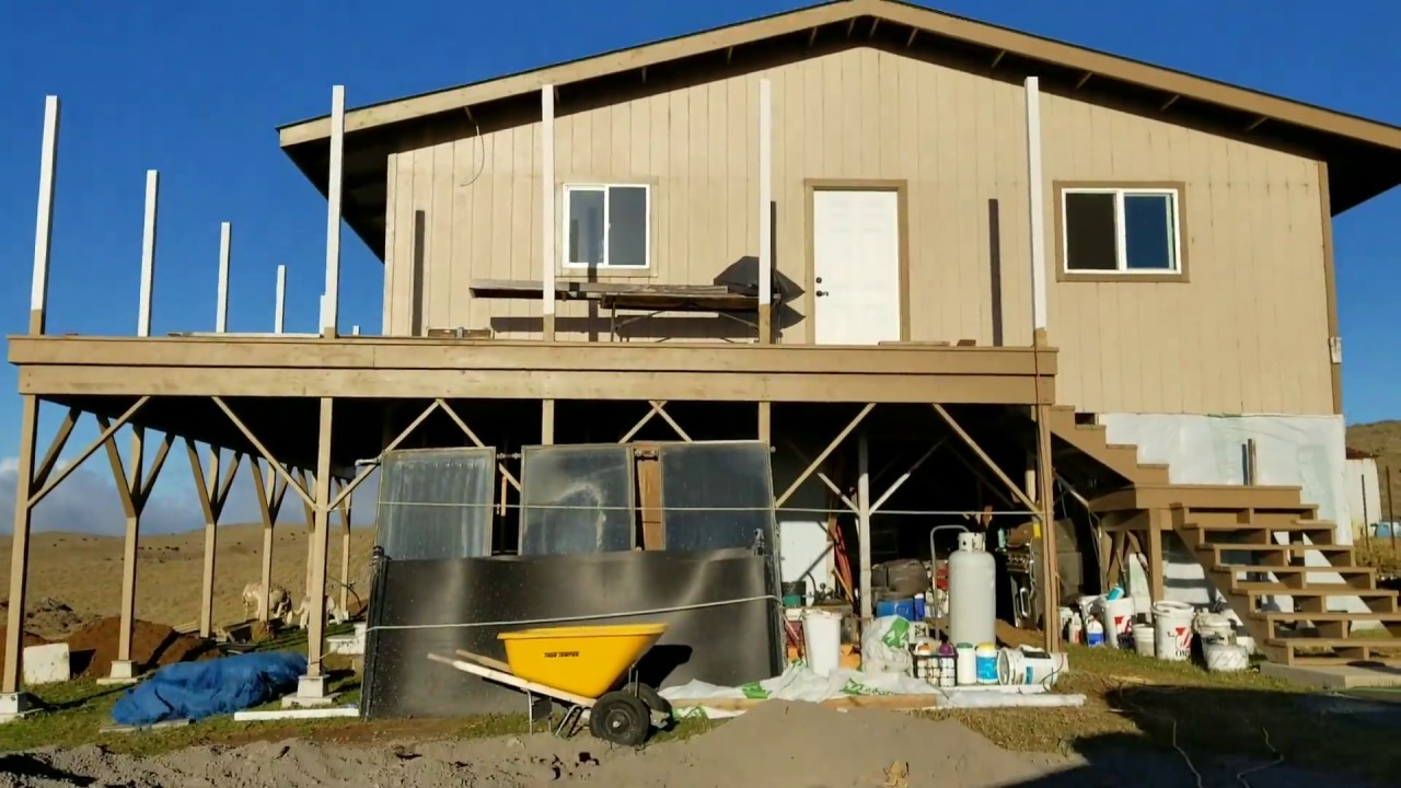 Building off grid homes - Building Out Down Stairs More Living Area Off Grid Home