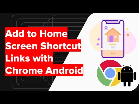 How to Add to Home Screen Shortcut Links with Chrome Android?