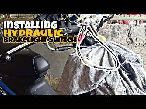 how to install hydraulic brakeslight switch | suzuki smash