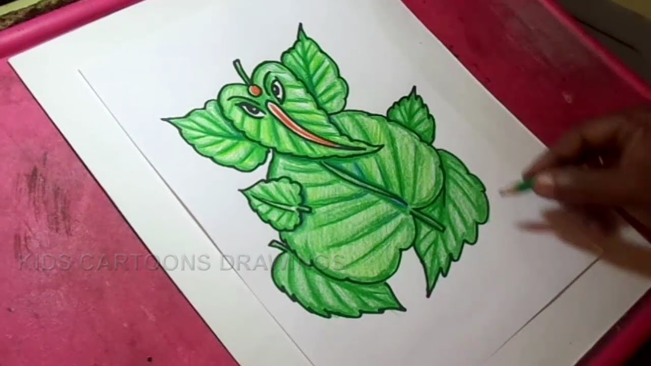 How To Draw Leaf Ganesha Drawing Youtube