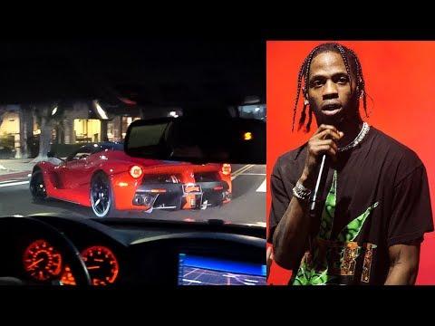 I CAUGHT TRAVIS SCOTT Driving His $3.5 Million Laferrari in Los Angeles
