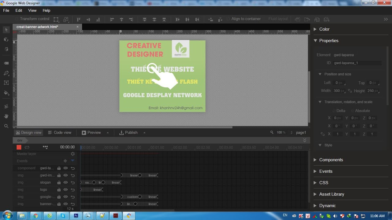 Building an Ad Banner with Google Web Designer | Google Adwords ...