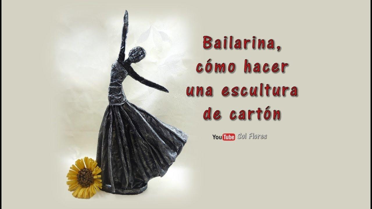 Diy bailarina c mo hacer una escultura de cart n how to for Como hacer una pileta de material paso a paso