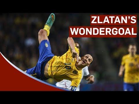 Zlatan Ibrahimovic amazing 30 yard bicycle kick goal Sweden vs England 4-2