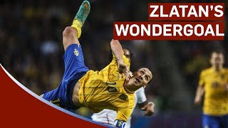 Zlatan Ibrahimovic amazing 30 yard bicycle kick goal Sweden vs England 4-2