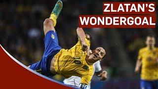 Zlatan Ibrahimovic Scores Amazing 30-yard Bicycle-kick vs England | Sweden 4-2 England