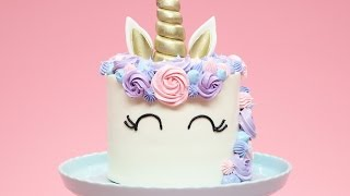 HOW TO MAKE A UNICORN CAKE - NERDY NUMMIES thumbnail