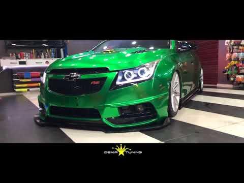 Chevrolet Cruze Parlak Yeşil Folyo Kaplama / Demir Tuning
