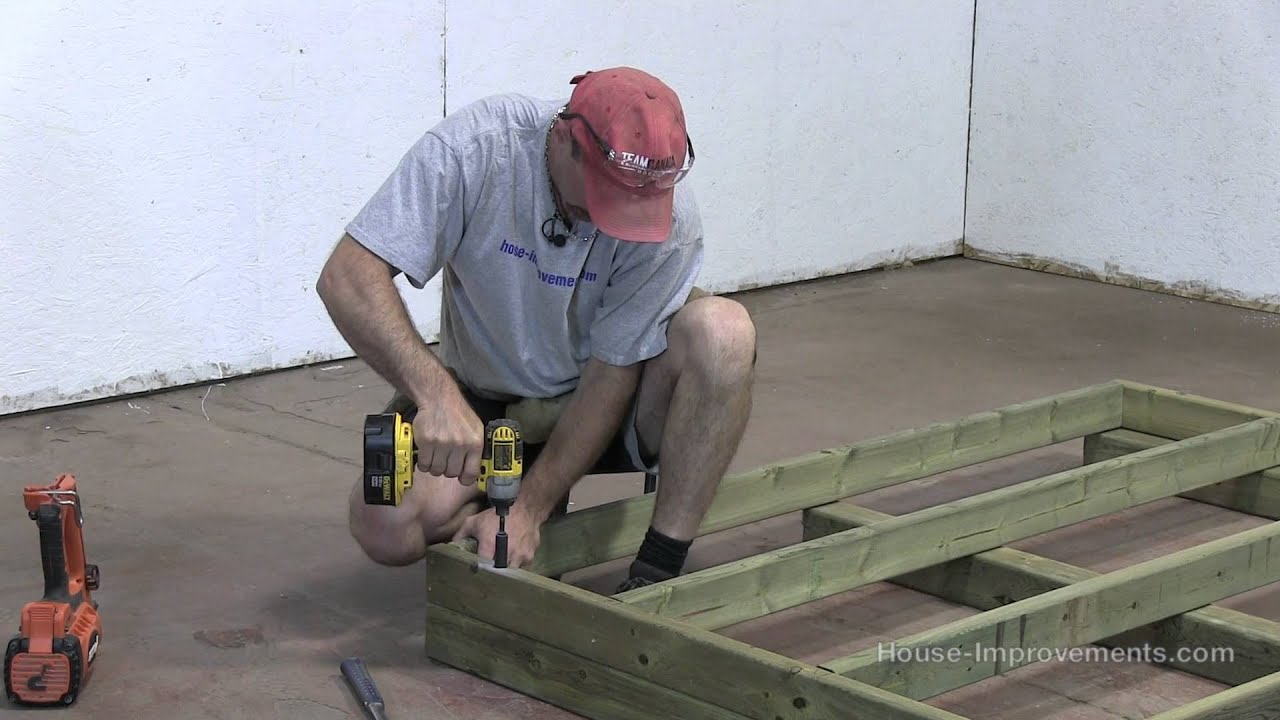 & How To Build A Shed - Part 1 Building The Floor - YouTube