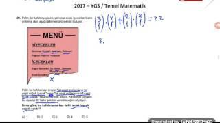2017 YGS MATEMATİK SORU ÇÖZÜMÜ 28.SORU