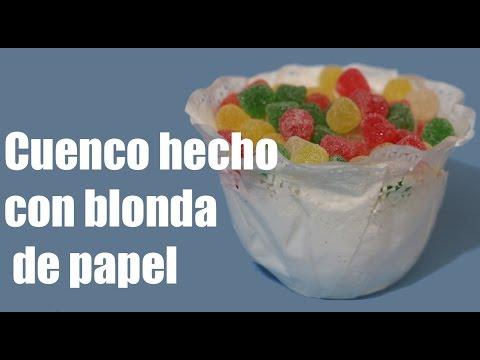 Cuenco Hecho Con Blonda De Papel Doily Bowl
